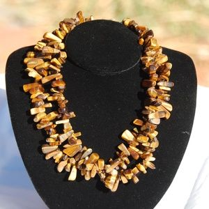 """Jewelry - Double Strand Tiger's Eye Necklace 17"""""""